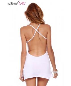 BombGirl Volcanique Hvid kjole